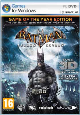 Descargar Batman Arkham Asylum Game of the Year Edition pc full español mega y google drive /